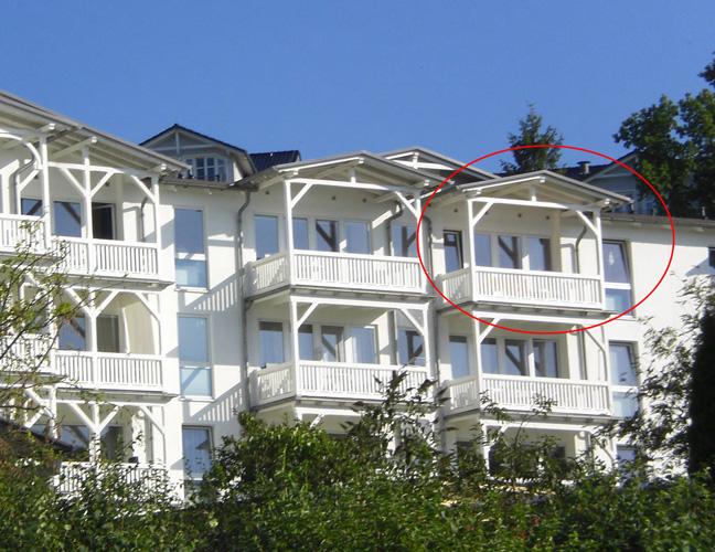 Hausansicht mit Lage der Wohnung